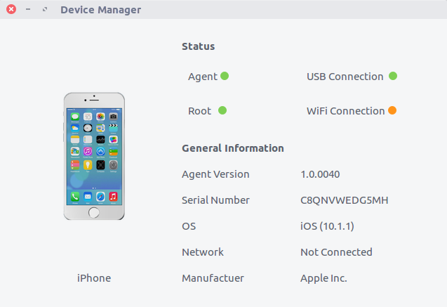Device Manager Interface