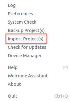 Import Project