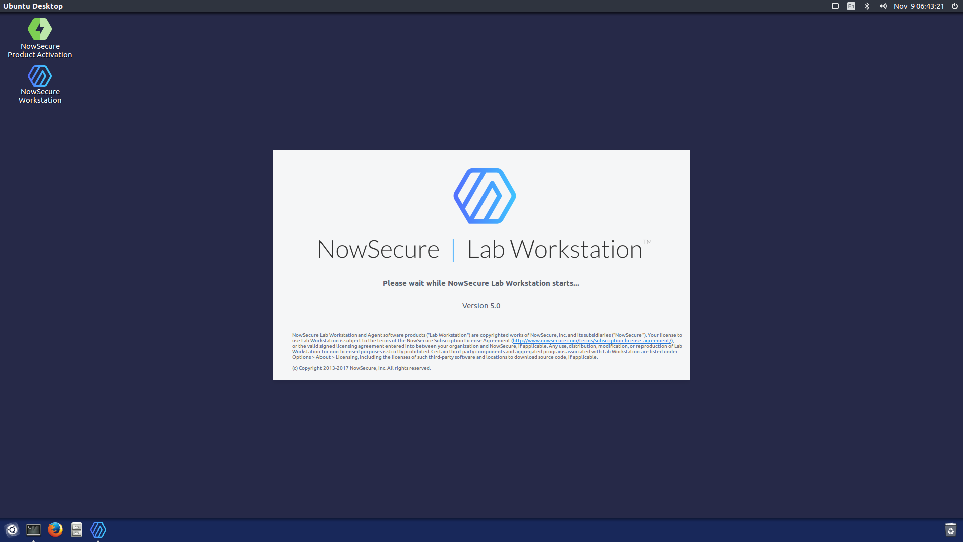 Running NowSecure Workstation for the First Time